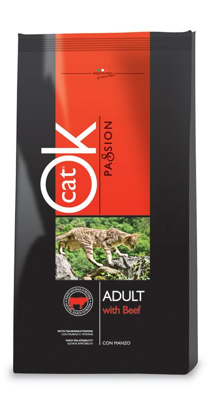 Ok passion - cat kattenvoer meerkleurig 12,5 kg