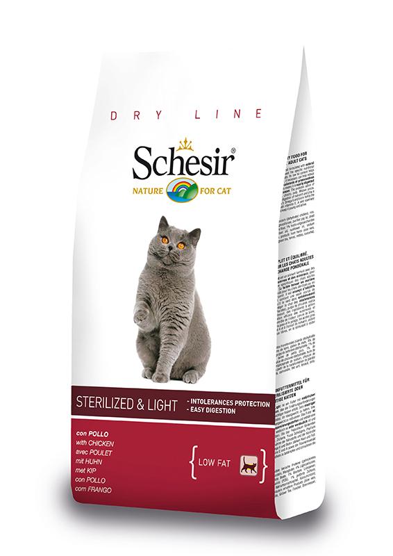 Productafbeelding voor 'Schesir - sterilized & light meerkleurig 10 kg'