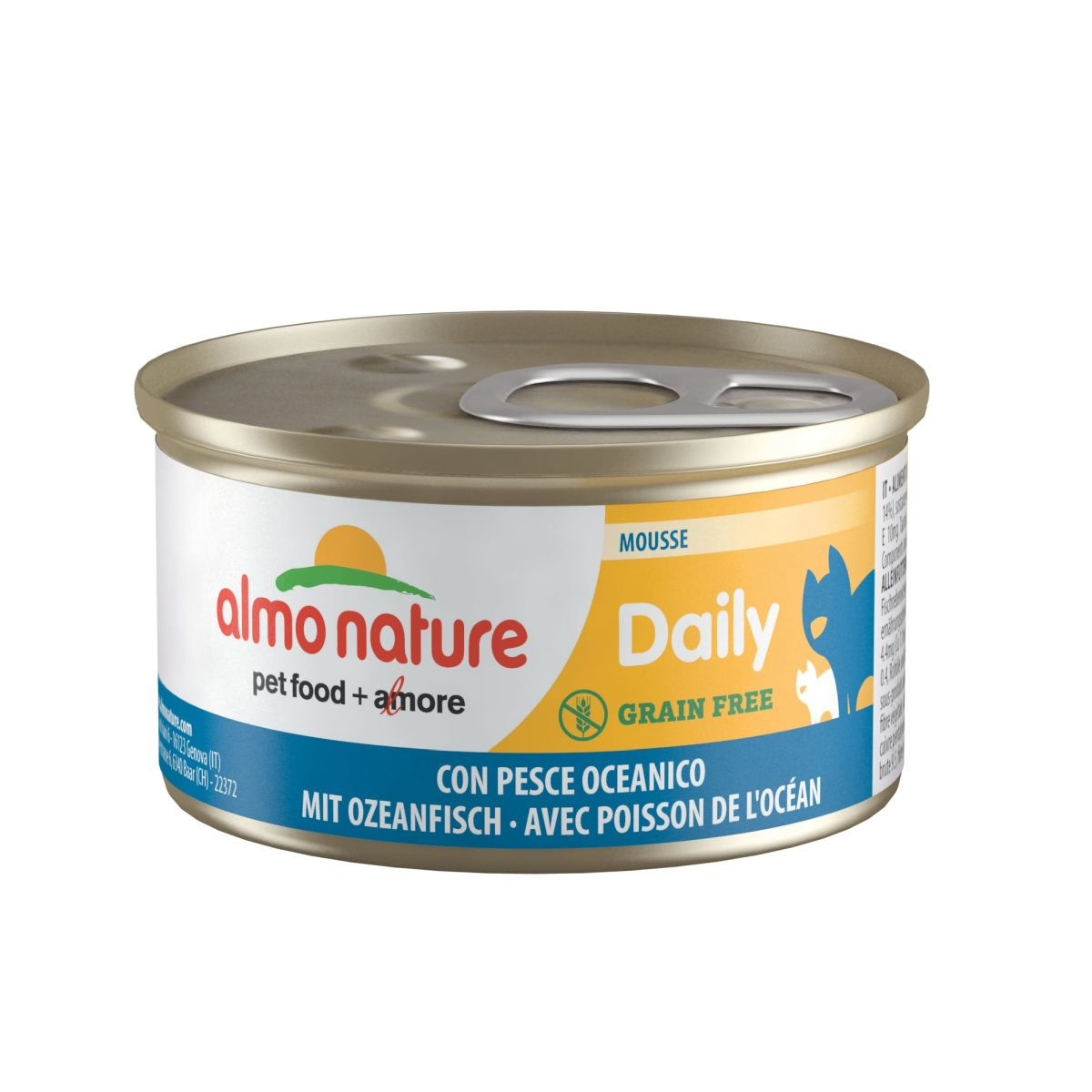 Almo Nature Daily Mousse met Oceaanvis 85 gram Per 24