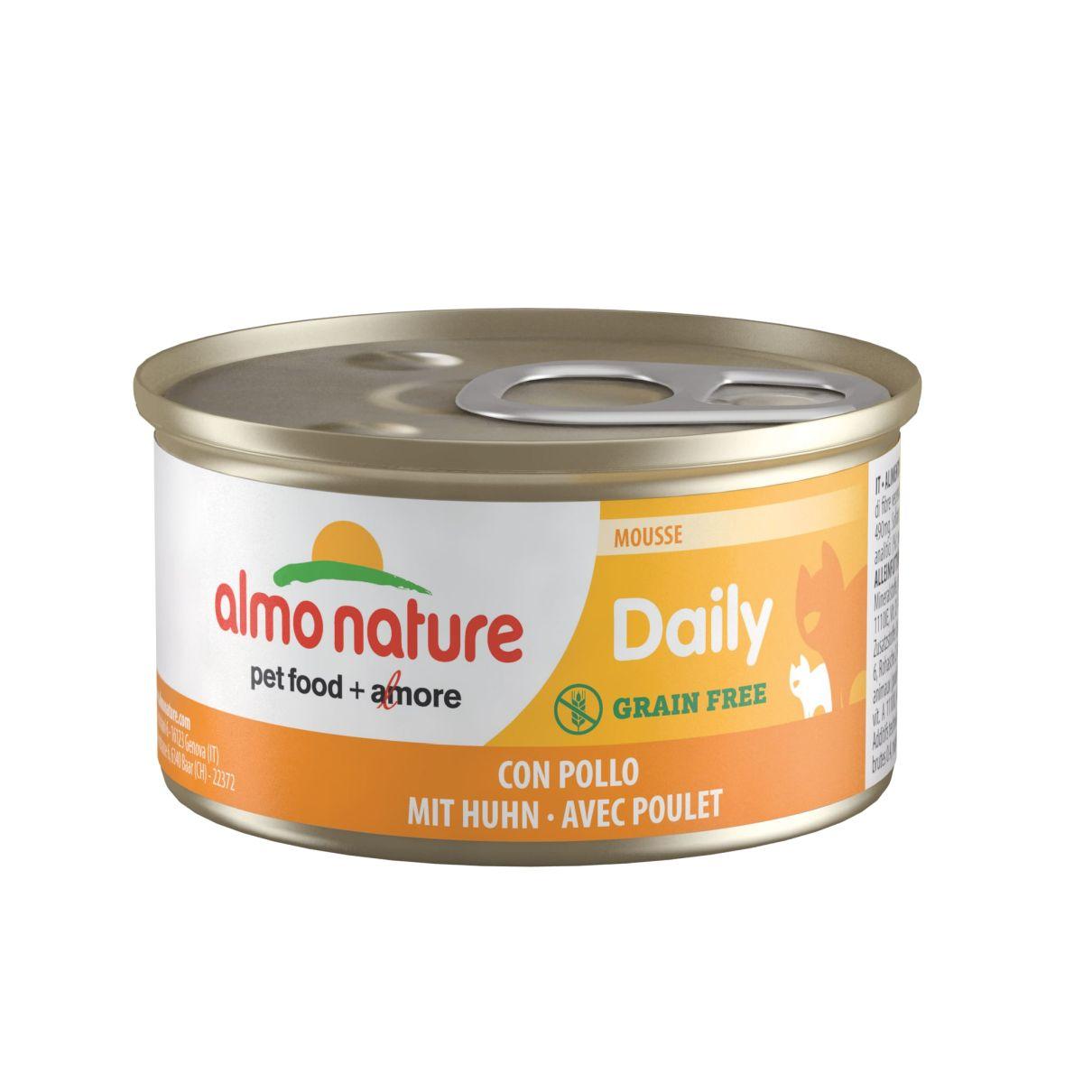 Almo Nature Daily Mousse met Kip 85 gram Per 24