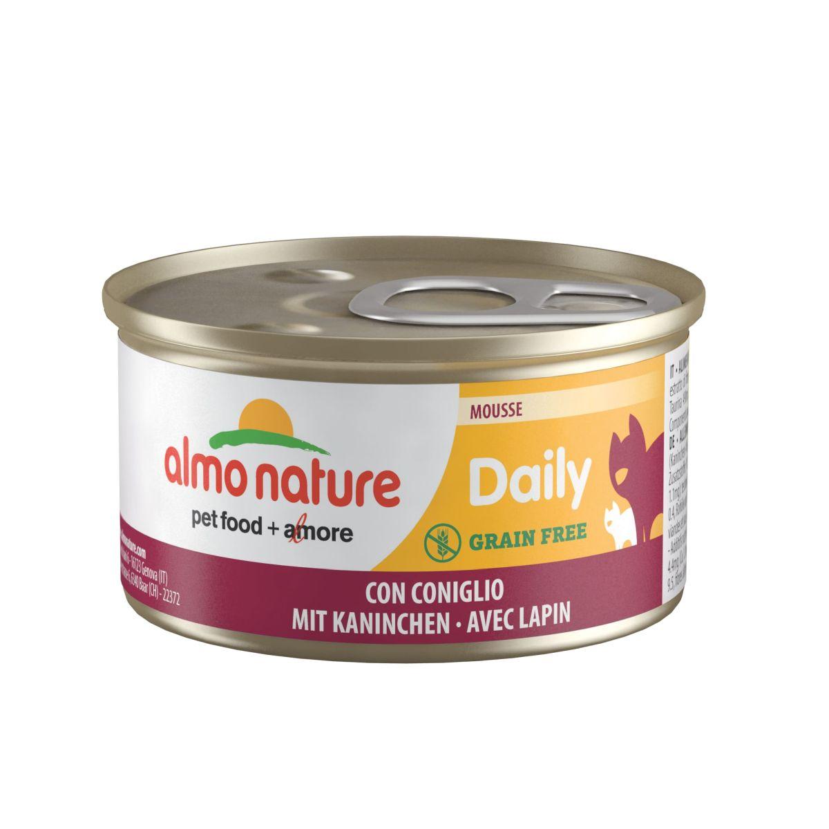 Almo Nature Daily Mouse met Konijn 85 gram Per 24