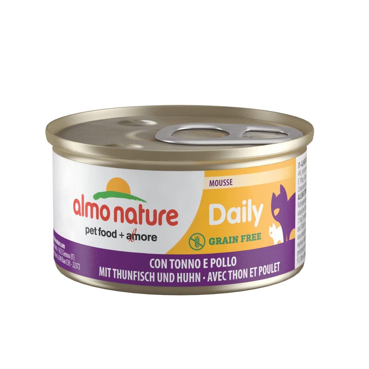 Almo Nature Daily Mousse met Tonijn & Kip 85 gram Per 24