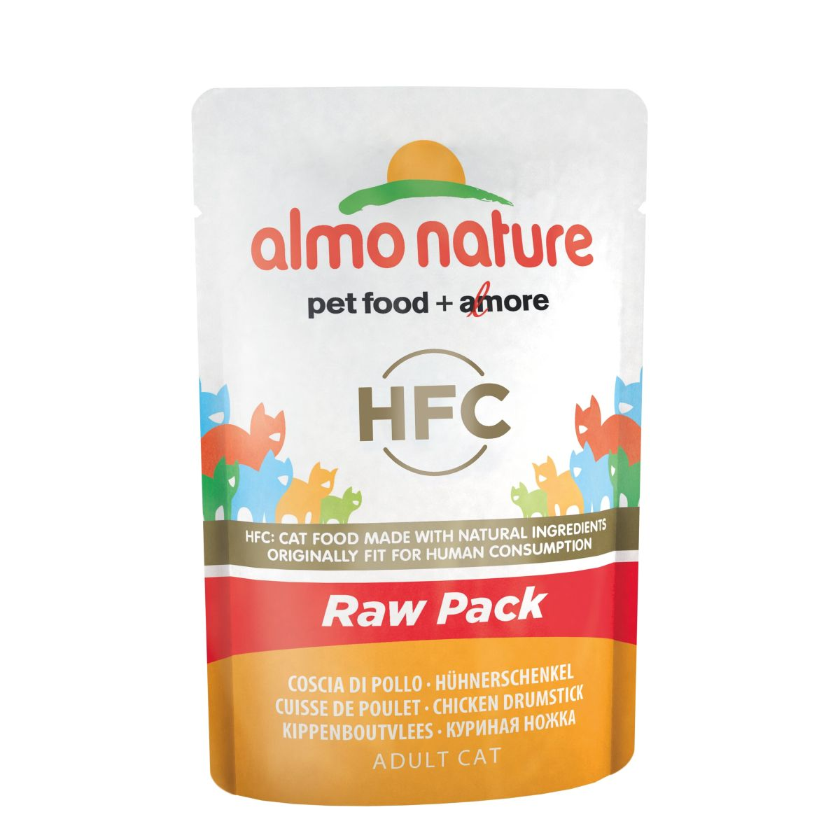 Almo Nature Classic Raw Pack Kippenbout 24 x 55 gr