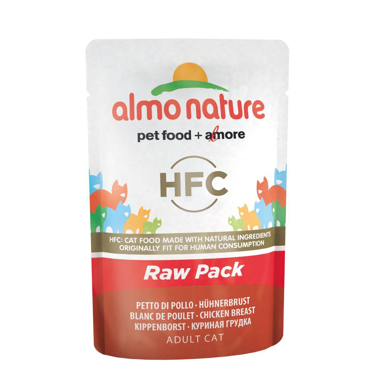 Almo Nature Classic Raw Pack Kippenborst 24 x 55 gr