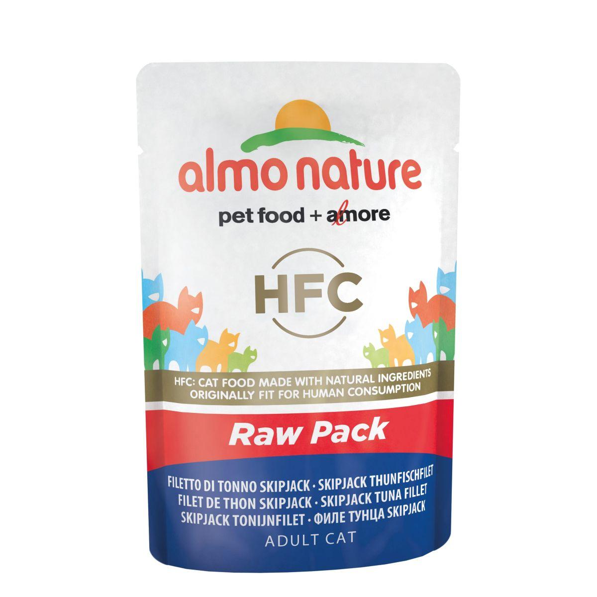 Almo Nature Classic Raw Pack SkipJack Tonijn Filet 24 x 55 gr