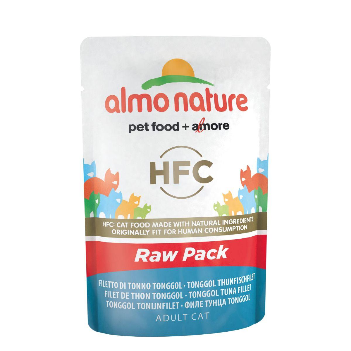 Almo Nature Classic Raw Pack Tonggol Tonijn Filet 24 x 55 gr