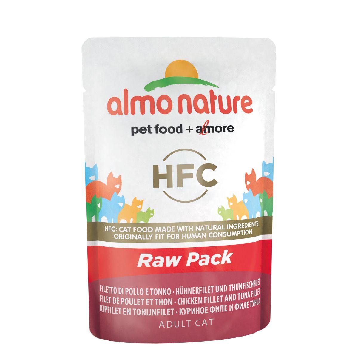 Almo Nature Classic Raw Pack Kip en Tonijn 24 x 55 gr