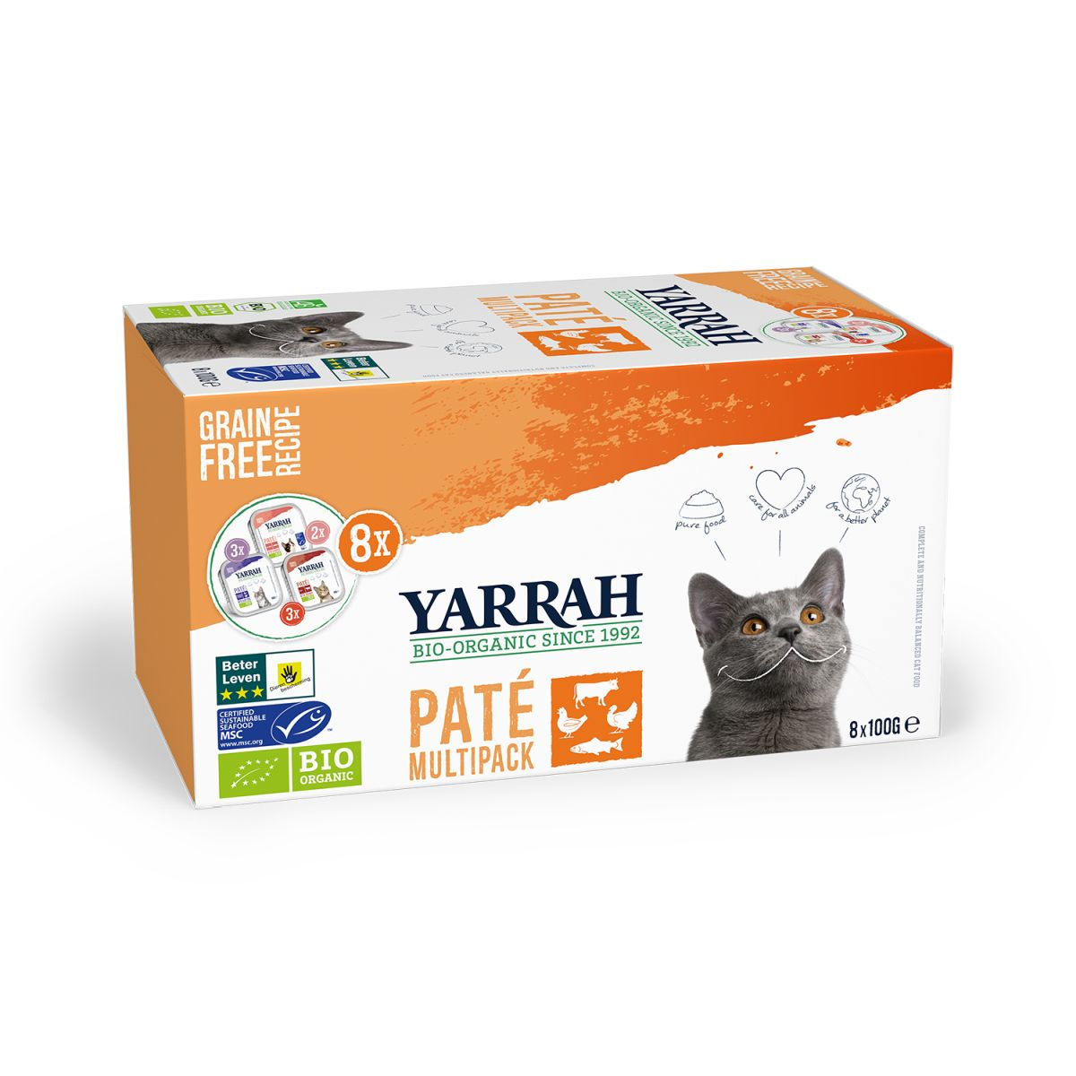 YA CAT ORG.MULTI-PACK 8X100GR 00001