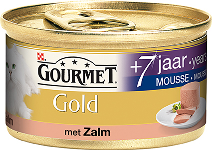 Gourmet - gold mousse senior meerkleurig 85 gr