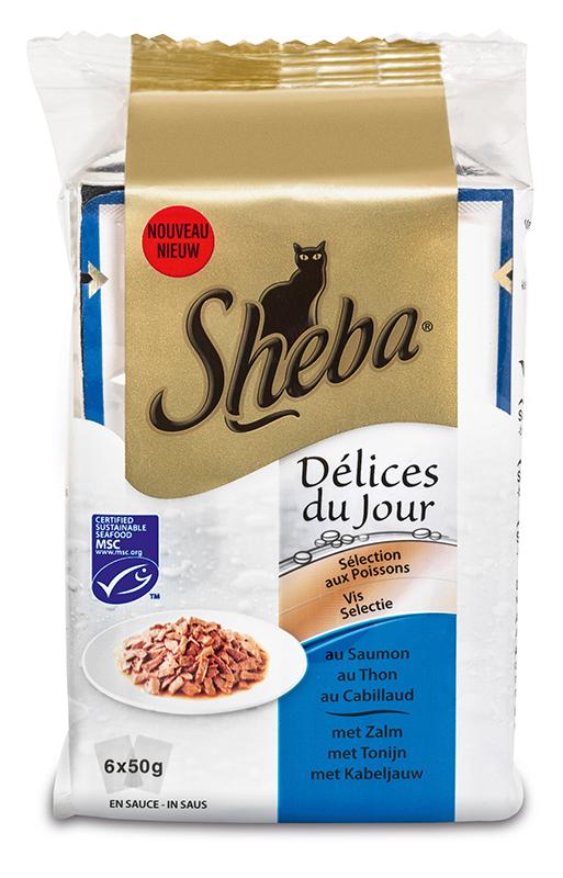 Sheba - delice du jour meerkleurig 6 x 50 gr