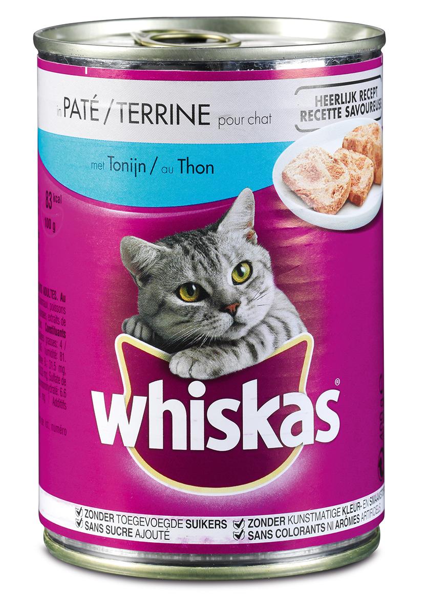 Productafbeelding voor 'Whiskas - pate meerkleurig 400 gr'