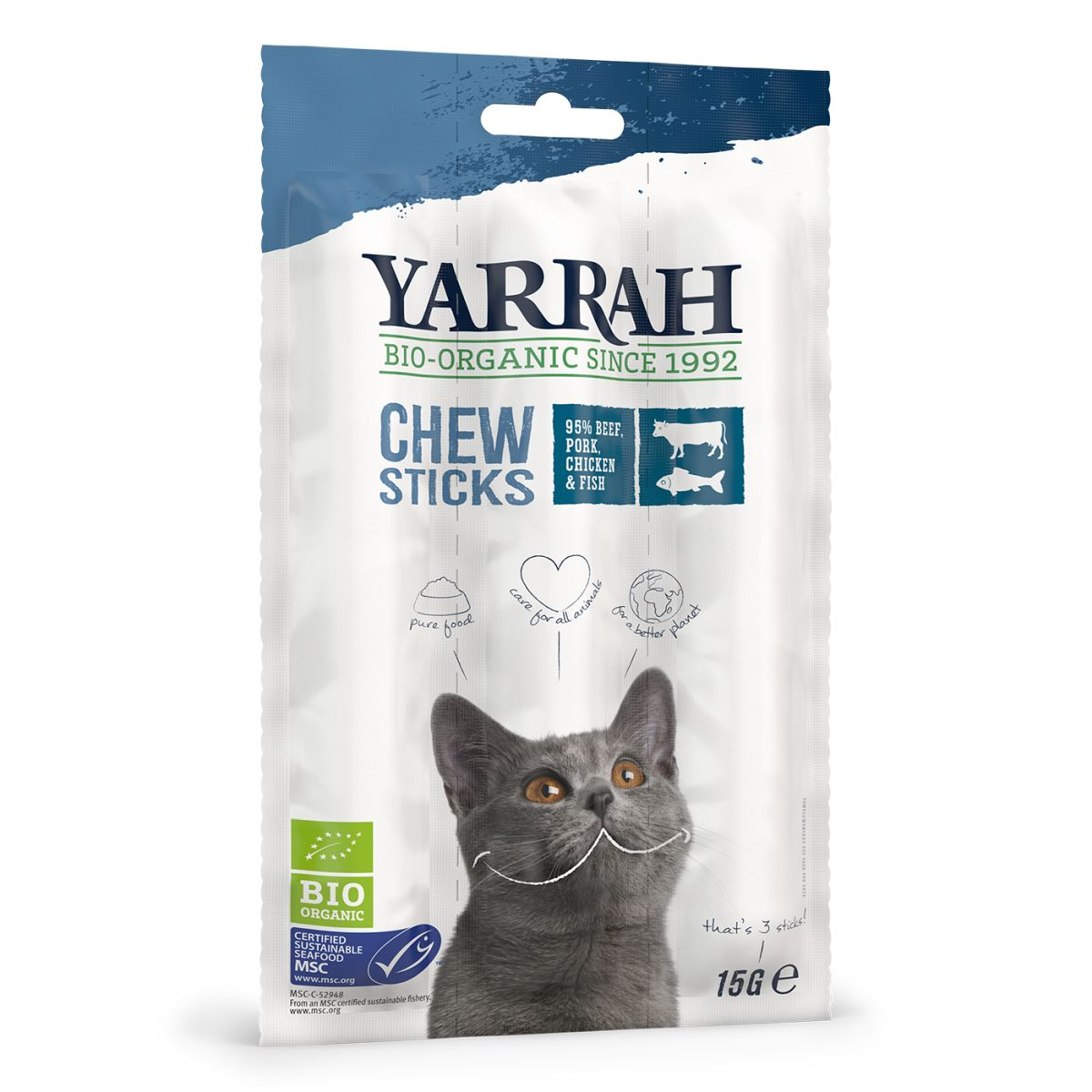YA CAT ADULT KAUWSTICKS 15GR J 00005