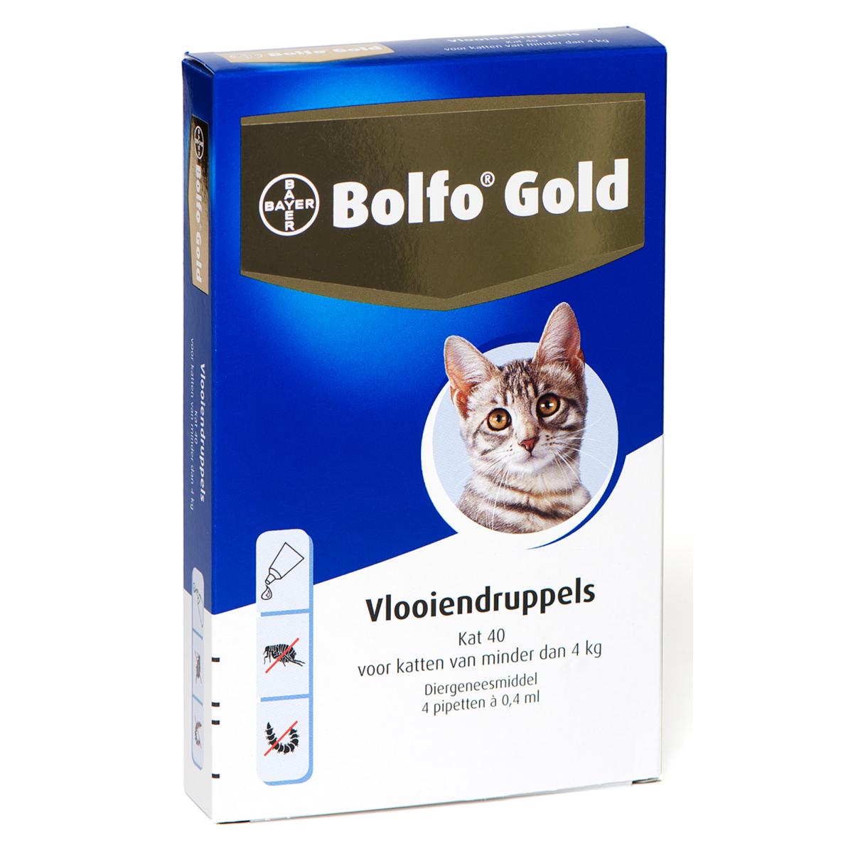 Bolfo - gold 40 meerkleurig 4 pipetten