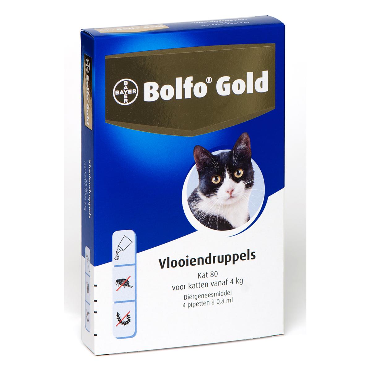 Bolfo - gold 80 meerkleurig 4 pipetten