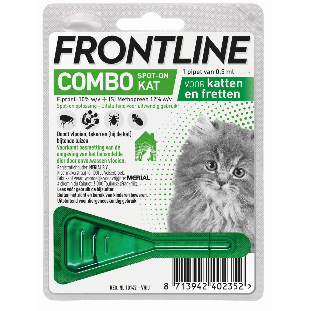 Combo voor katten en kittens groen 1 pipet