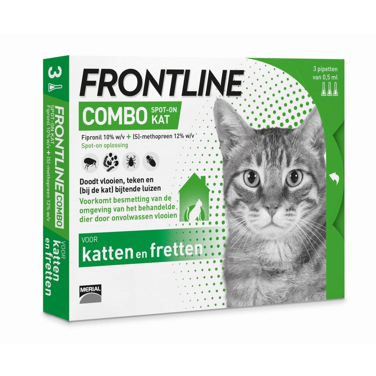 Productafbeelding voor 'Frontline - combo voor katten en fretten groen 3 pipetten'