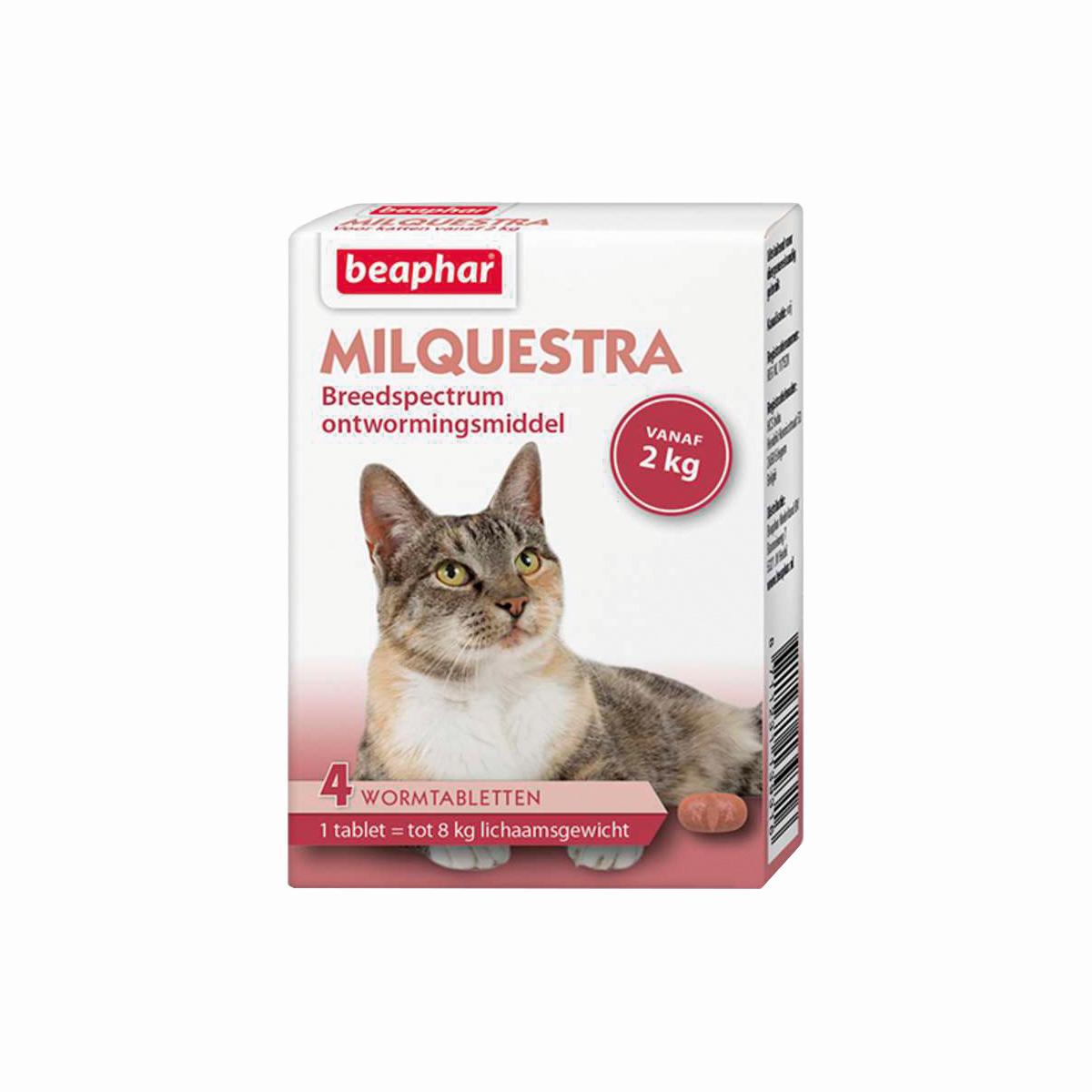 Milquestra kat wit/roze 4 tabletten