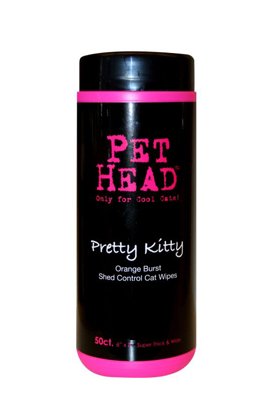 PRETTY KITTY SHED CNTRL WIPE50 00001