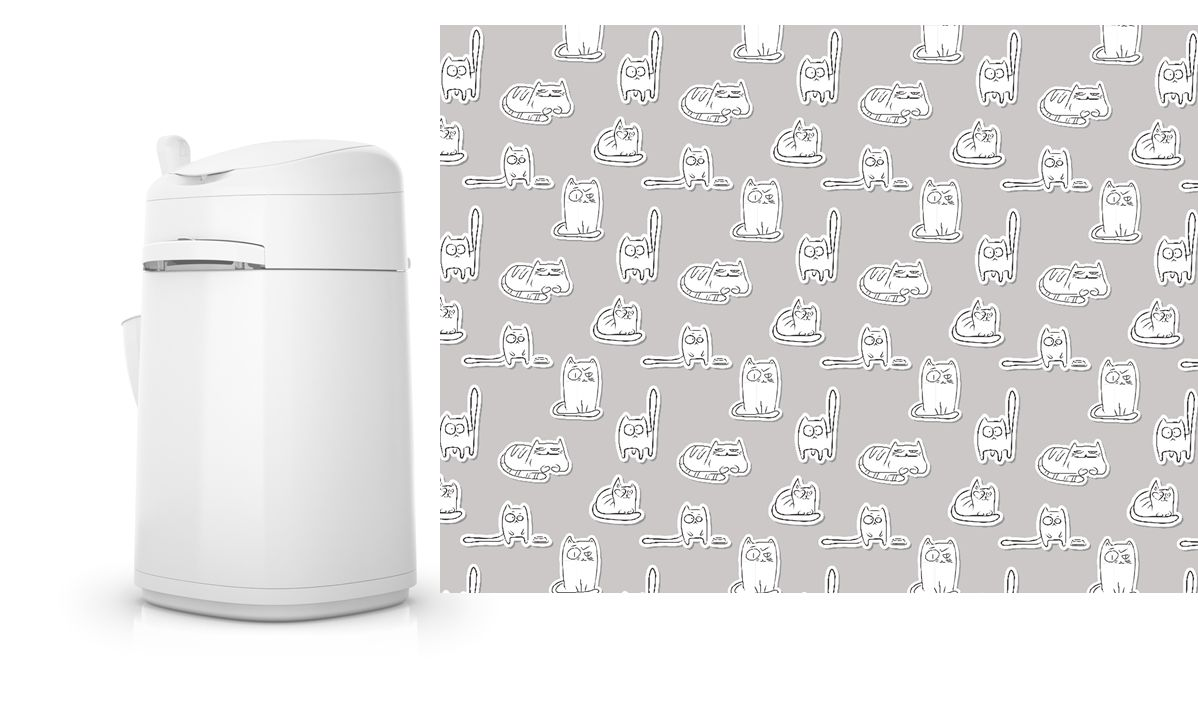 LITTERLOCKER SLEEVE PAPER CATS N 00001