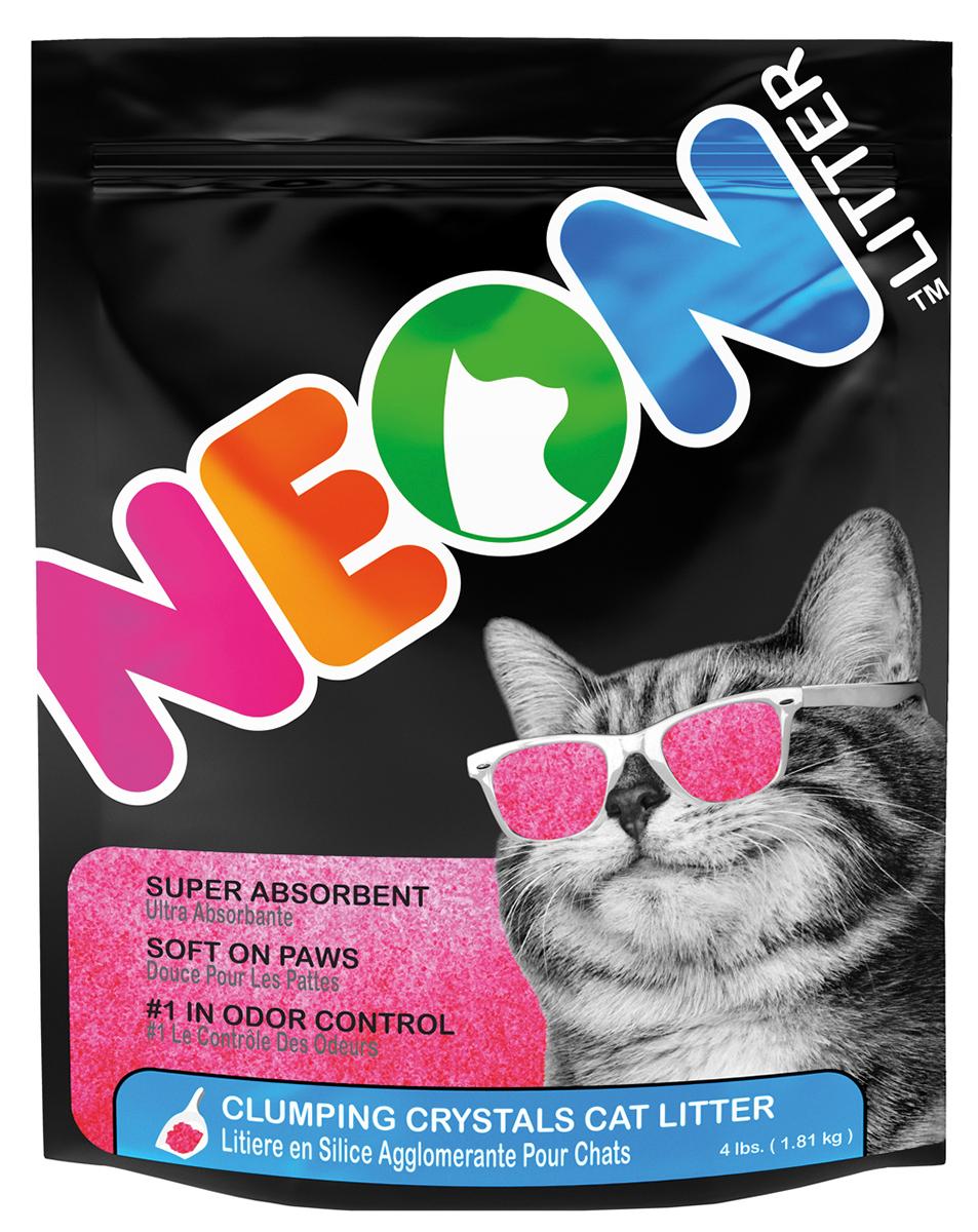 Neon litter - kattenbakvulling roze 1,8 kg