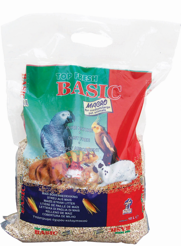 Top fresh - basic macro grijs 10 ltr, 4 kg
