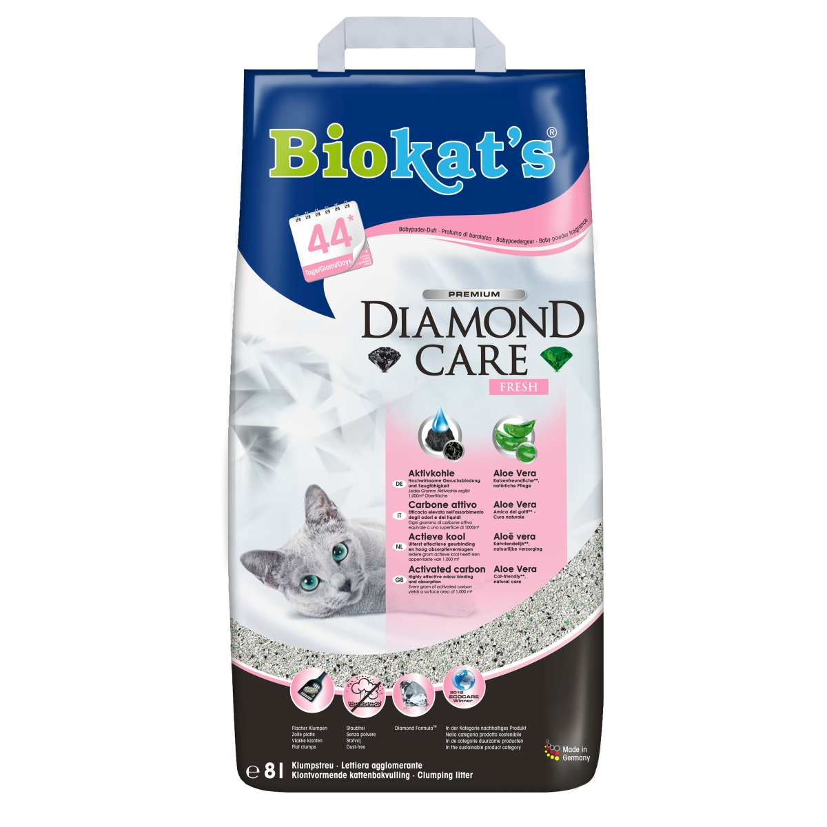 Diamond care classic fresh grijs 8 ltr