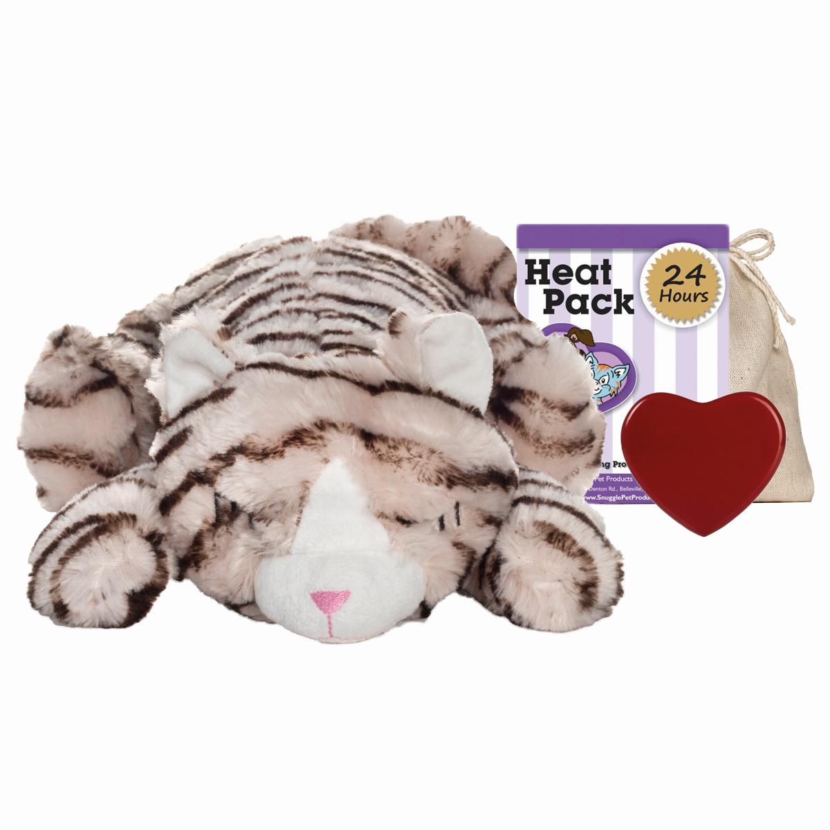 Snuggle kitty - kalmerende knuffel beige met print