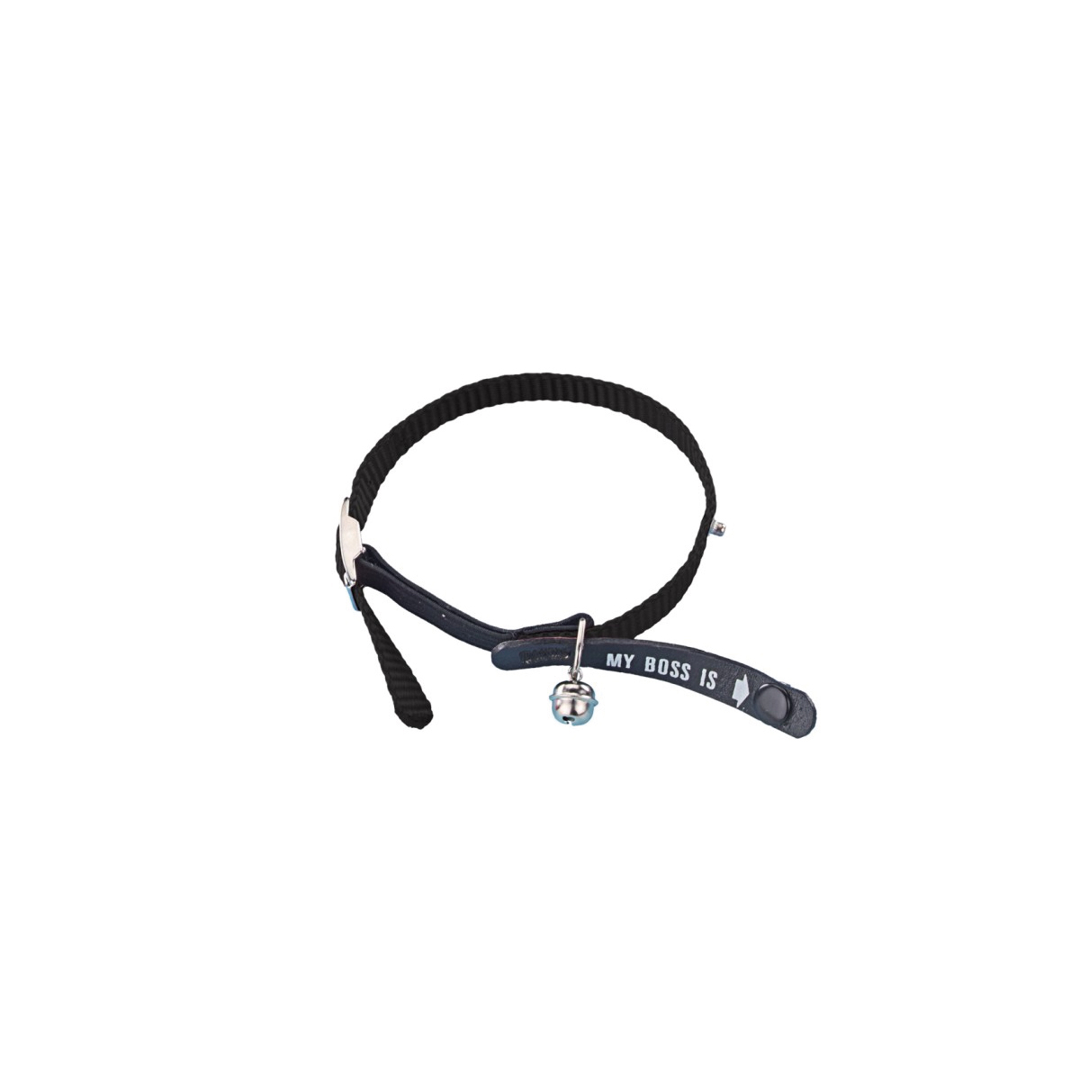 Nobby - halsband identity zwart