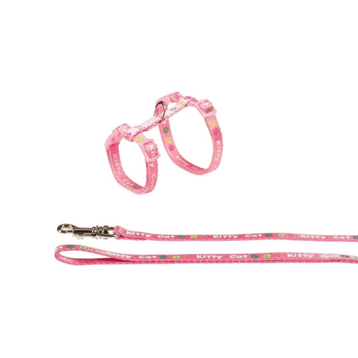 Productafbeelding voor 'Nobby - tuig met lijn kitty roze'