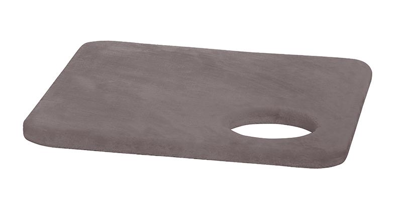 Nobby - vierkante middenplaat met ronde opening nummer 32 grijs