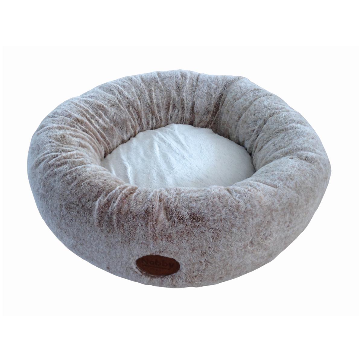 Donut bed cuddly licht bruin