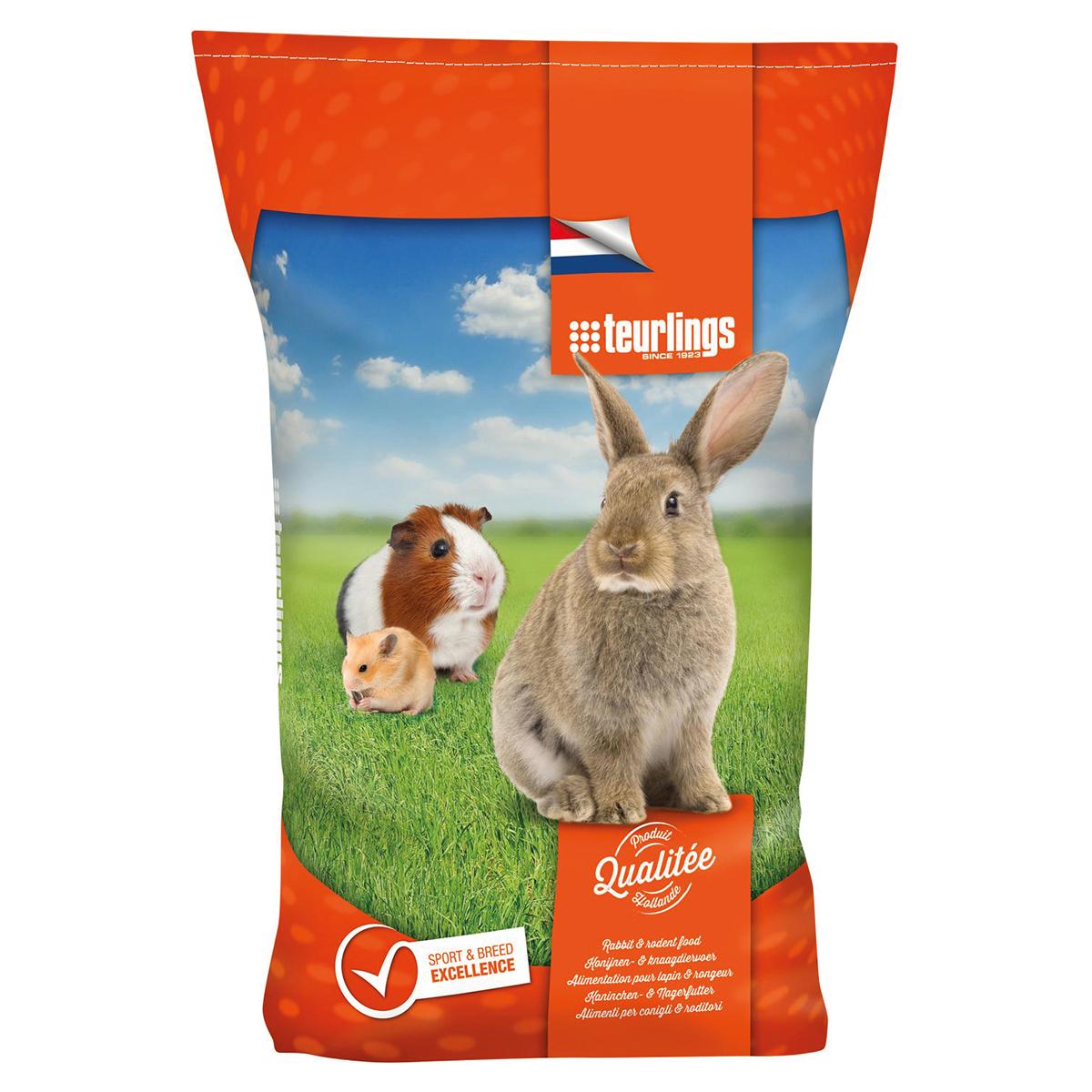 B-konijn kleine rassen meerkleurig 25 kg