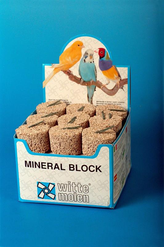 Witte molen - mineraalblok meerkleurig 161 gr