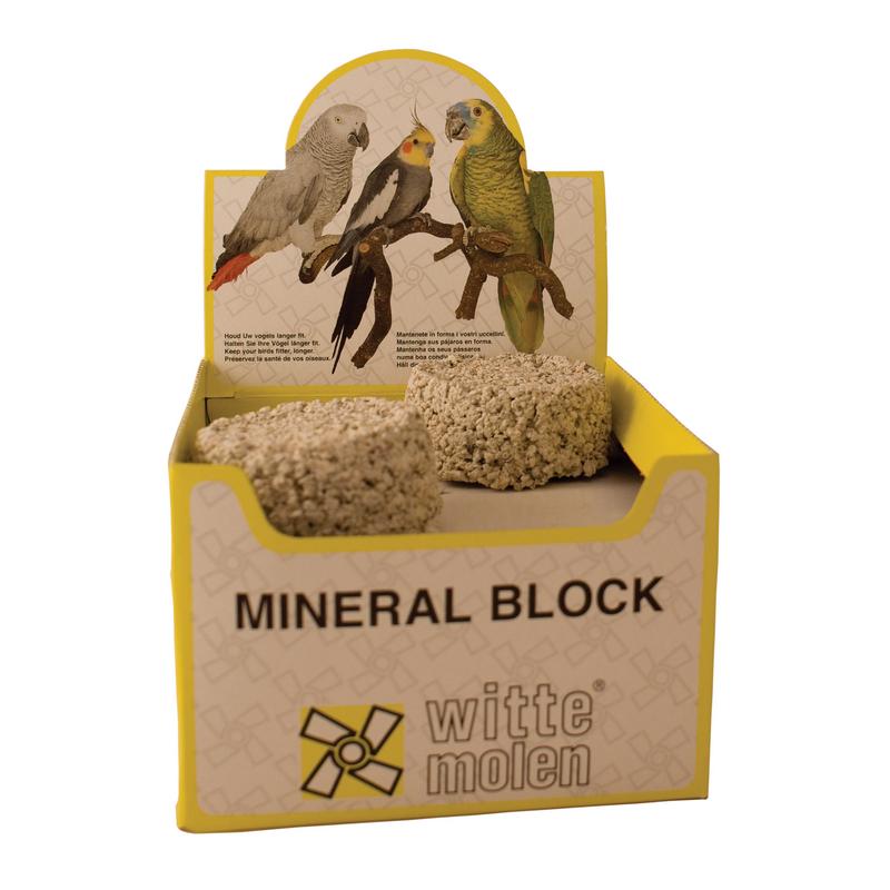 Witte molen - mineraalblok meerkleurig 424 gr