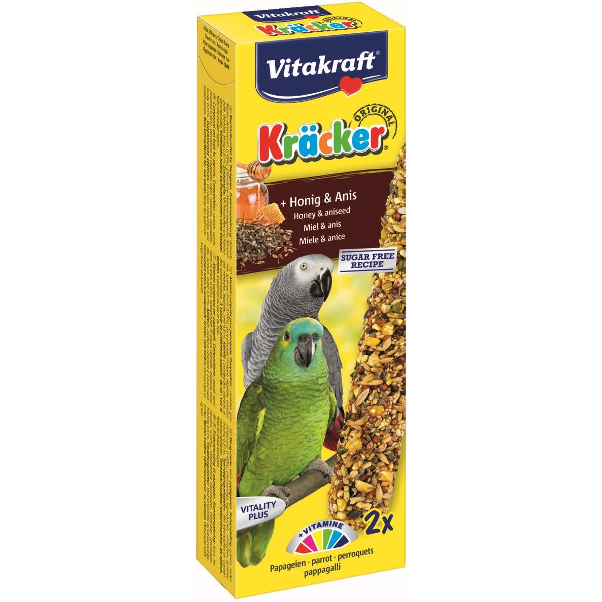 Vitakraft - kracker papegaai meerkleurig 248 gr