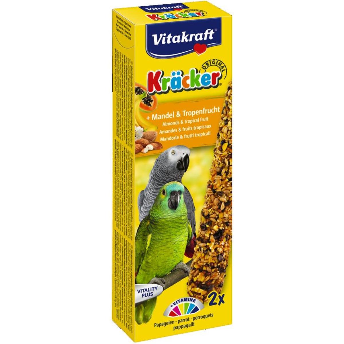 Vitakraft - kracker papegaai meerkleurig 2 st