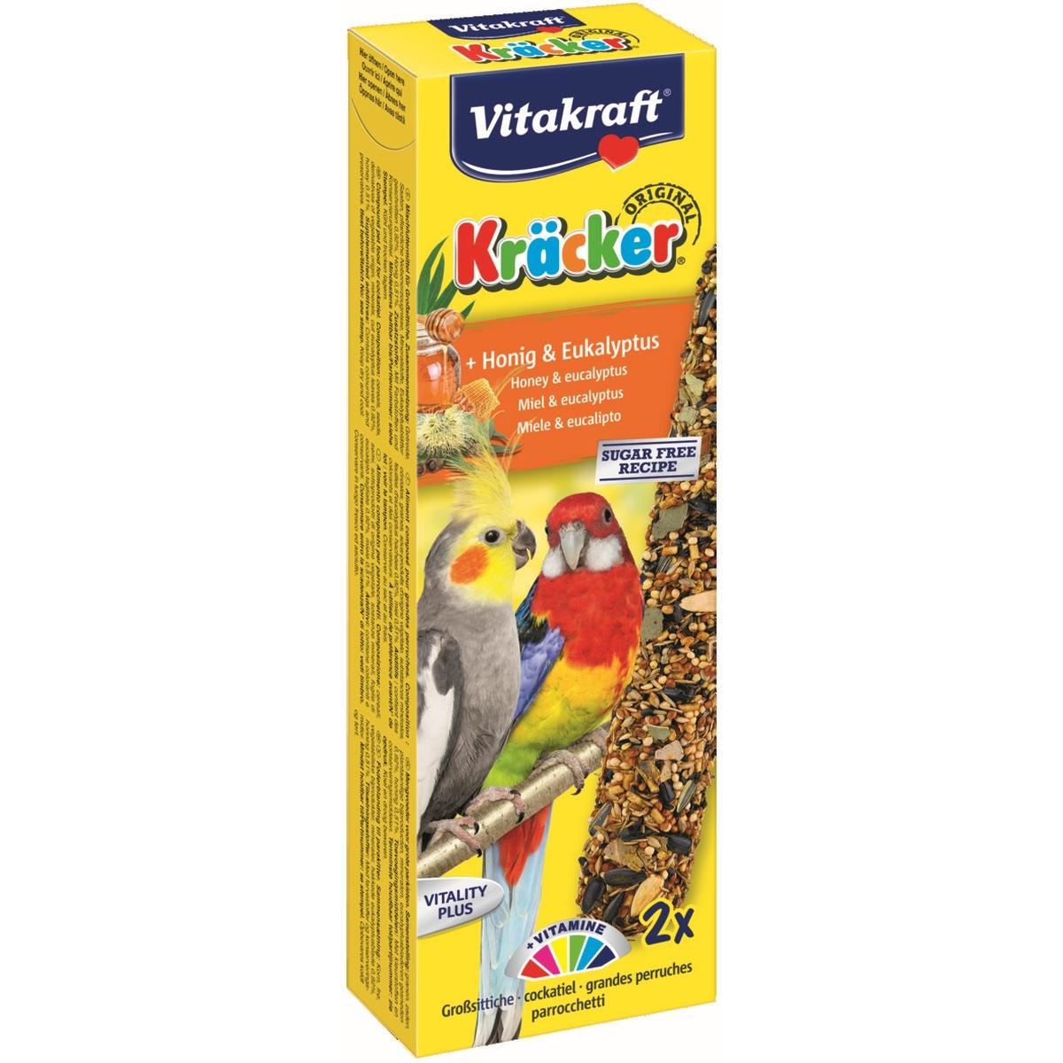 Vitakraft - kracker valkparkiet meerkleurig 216 gr