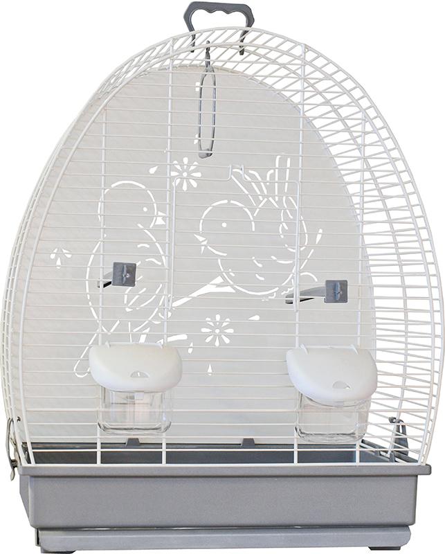 Vogelkooi 671 wit/grijs