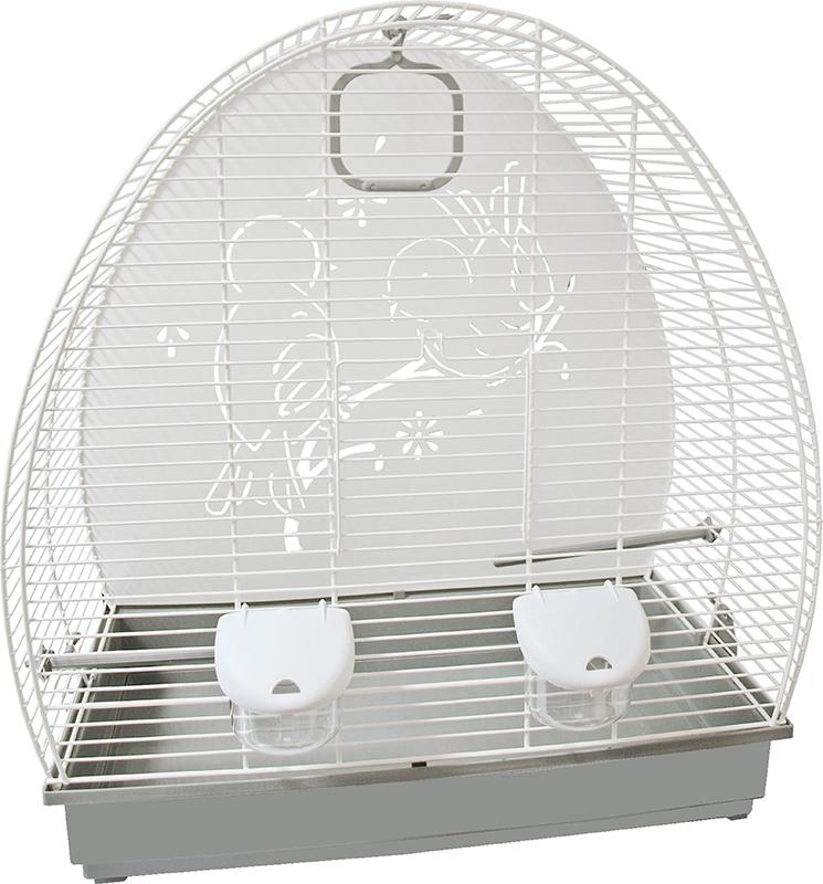 Vogelkooi 672 wit/grijs