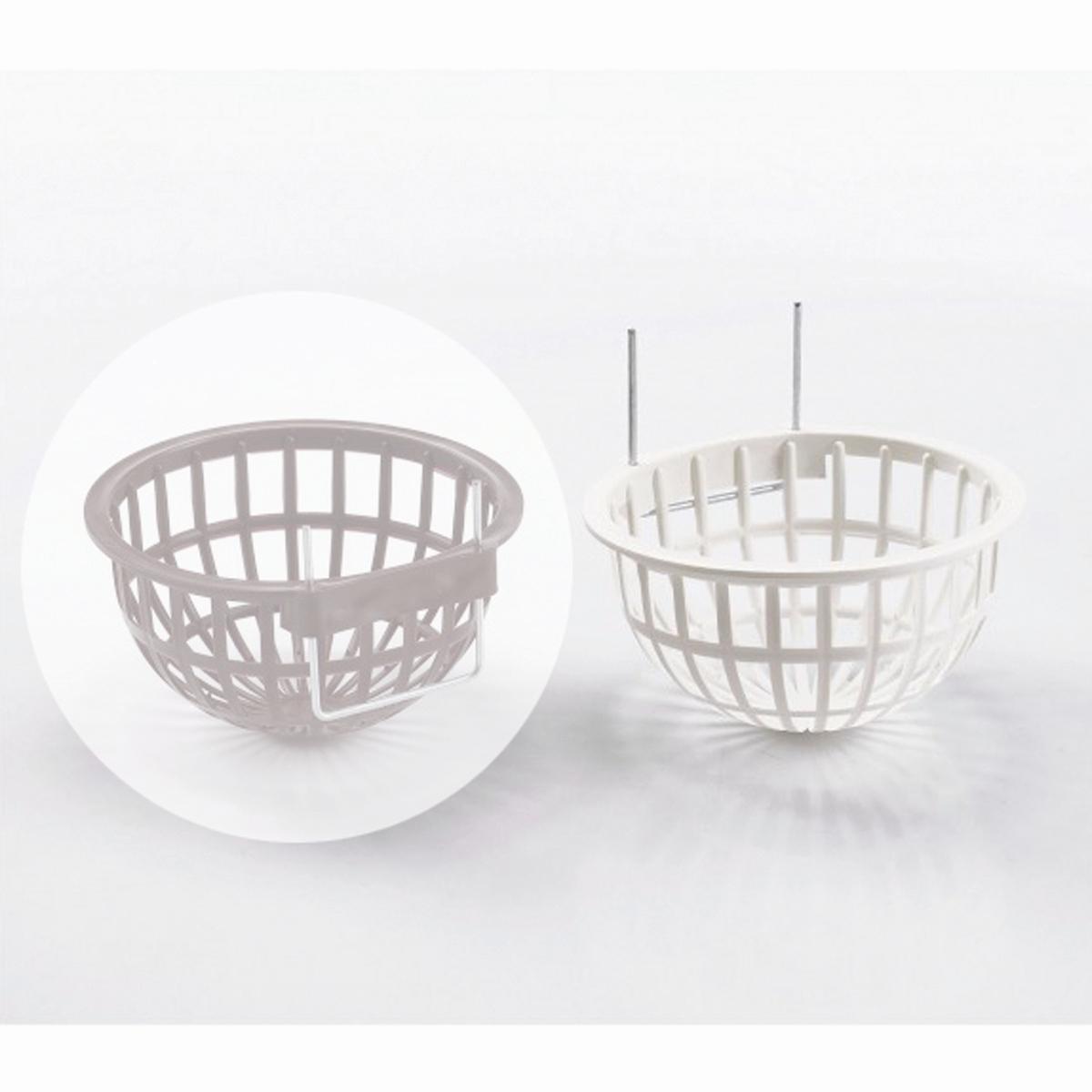 Productafbeelding voor 'Plastic nest+metalen haak wit'
