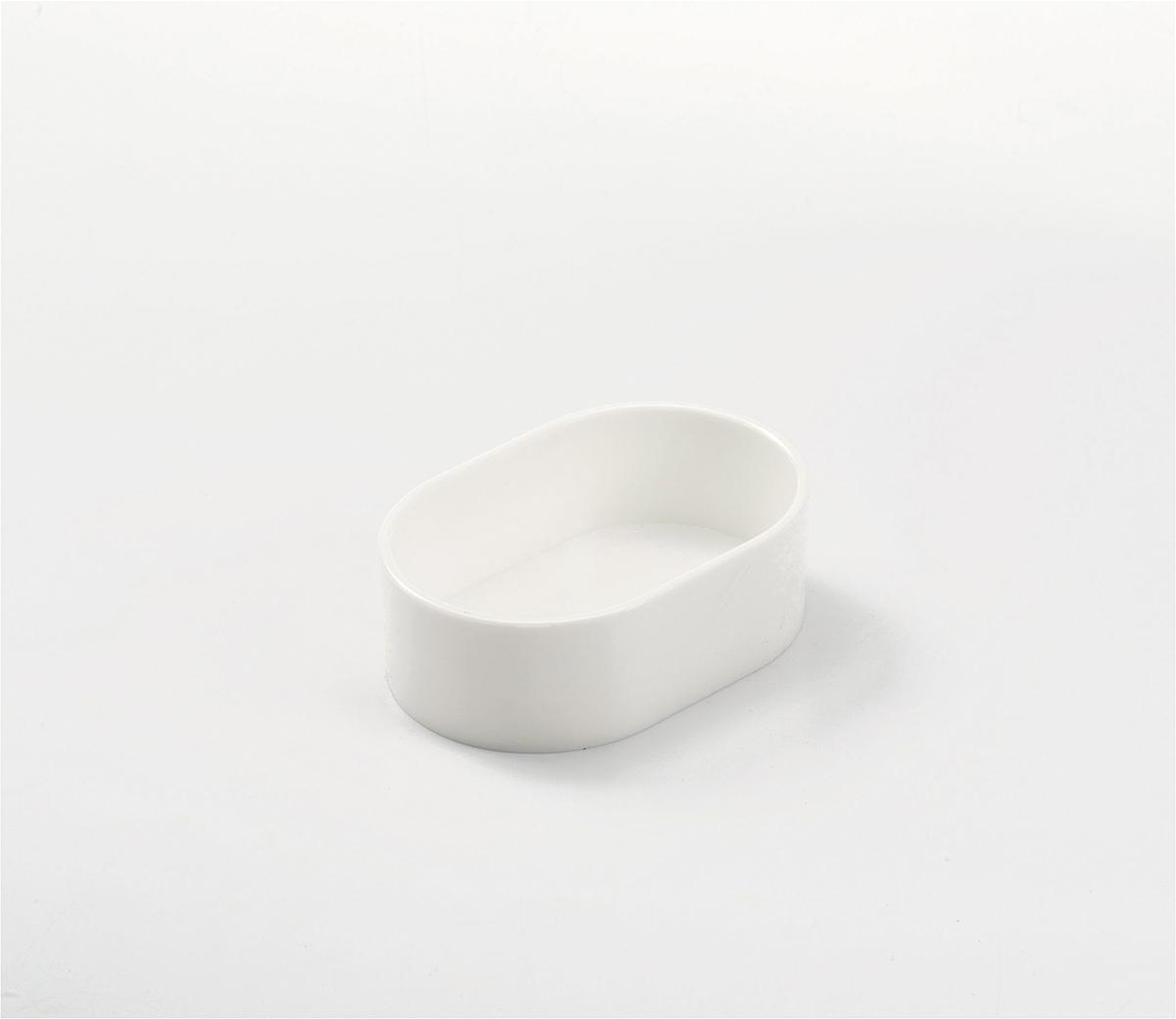 Productafbeelding voor 'Eivoerpot ovaal wit'