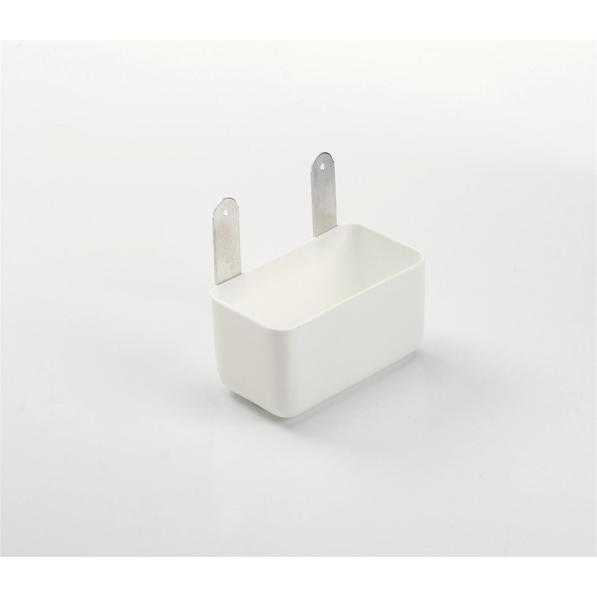 Productafbeelding voor 'Weduwschapbak alu+strip wit'