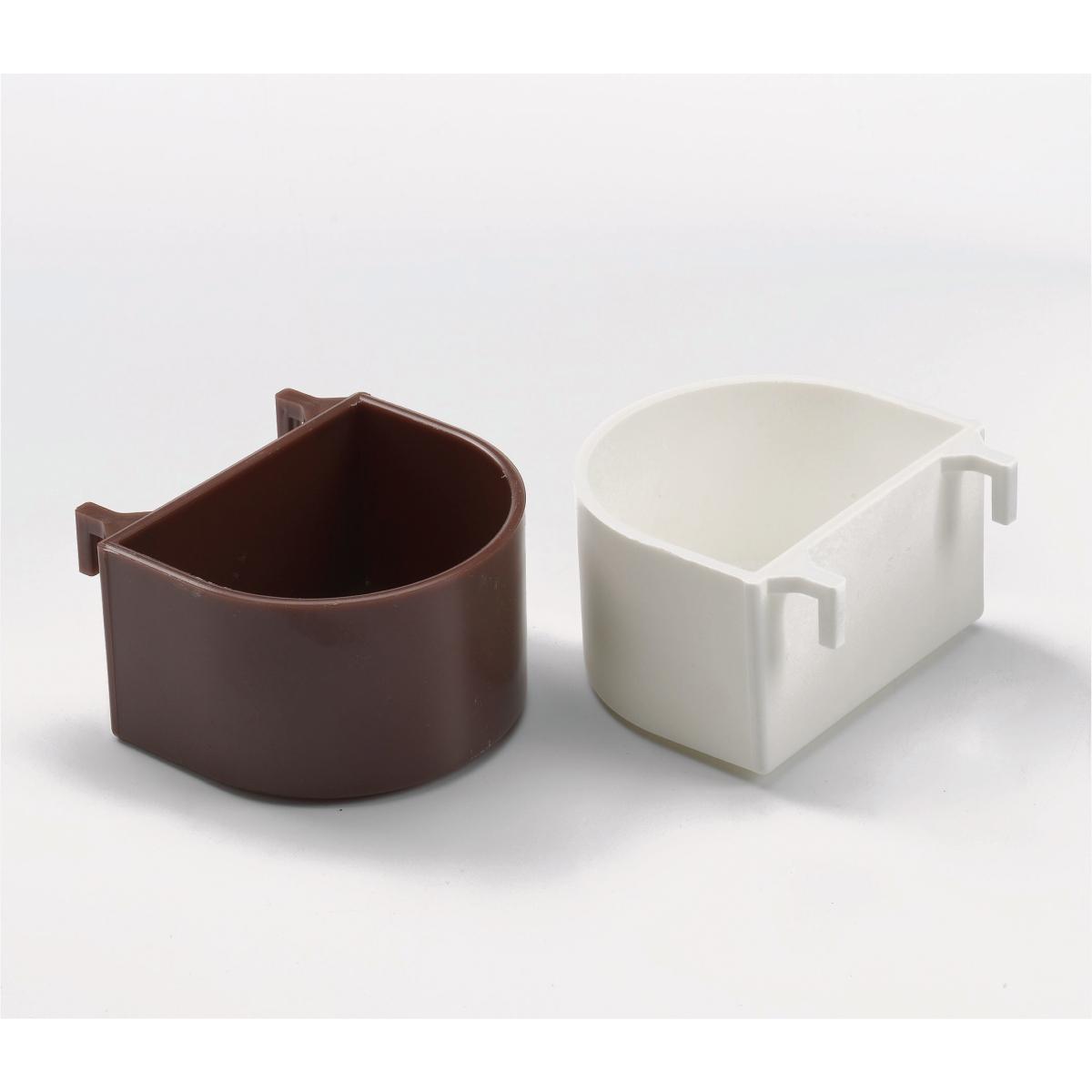 Productafbeelding voor 'Papegaaienpot+plastic haak wit'