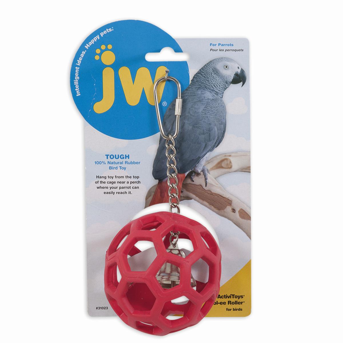 Hol-ee roller voor vogels rood