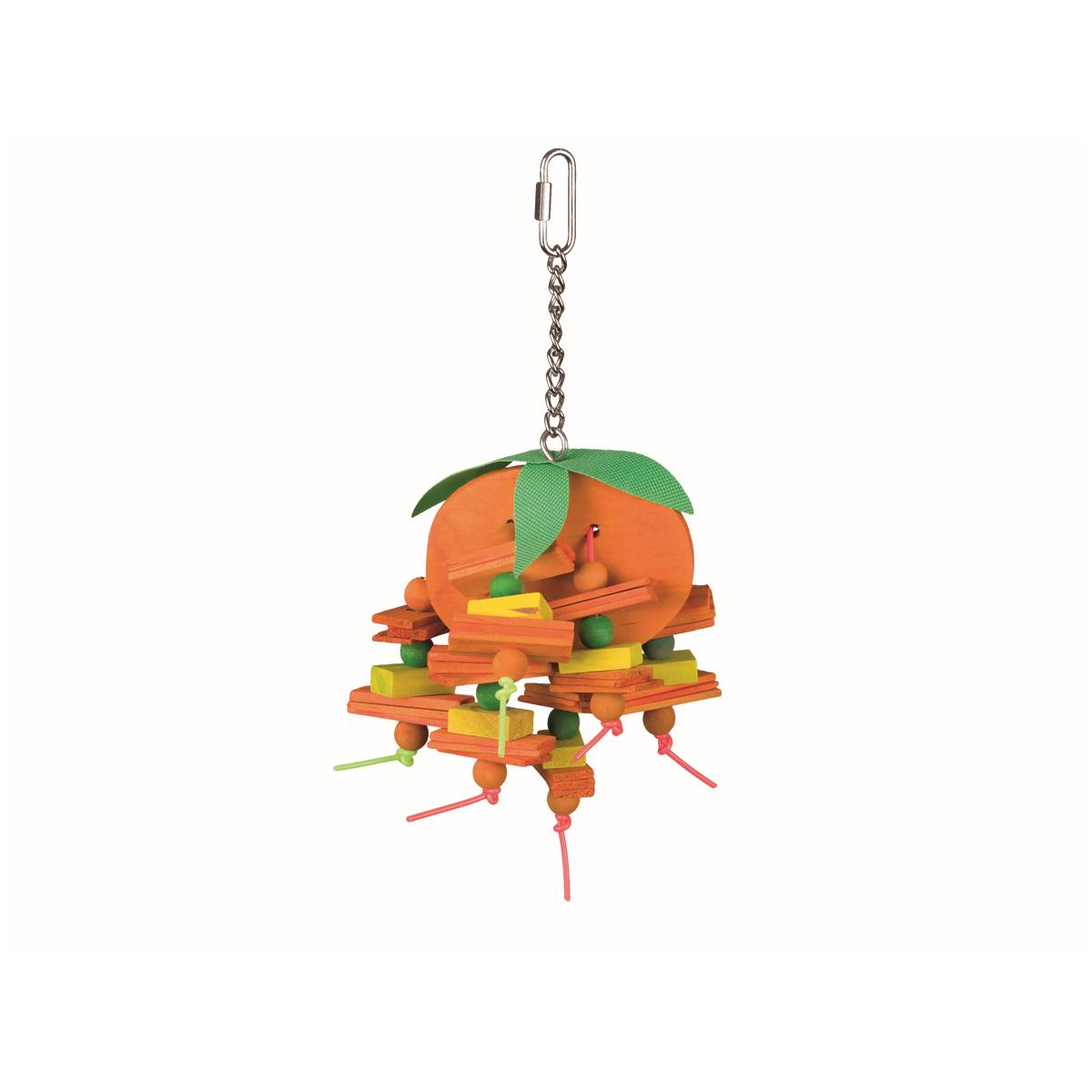 Vogel speelgoed sinaasappel groen