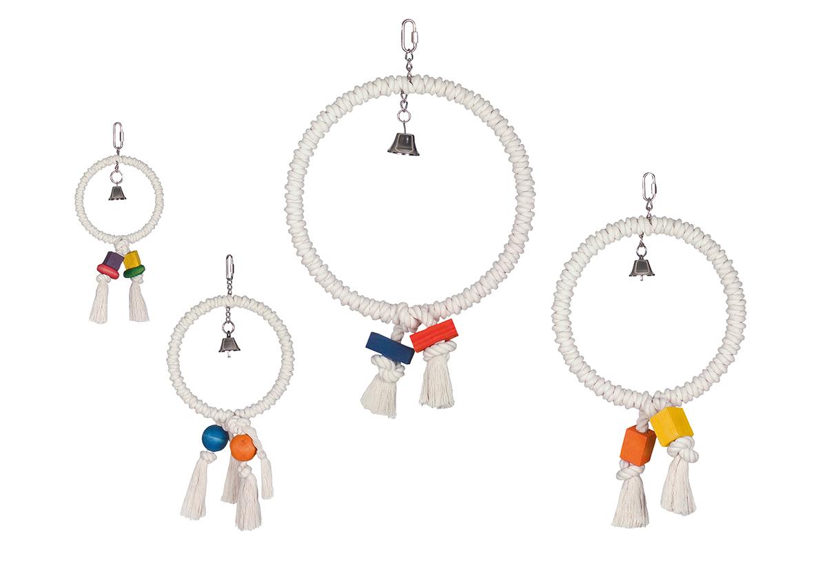 Kooi speelgoed touw ring meerkleurig