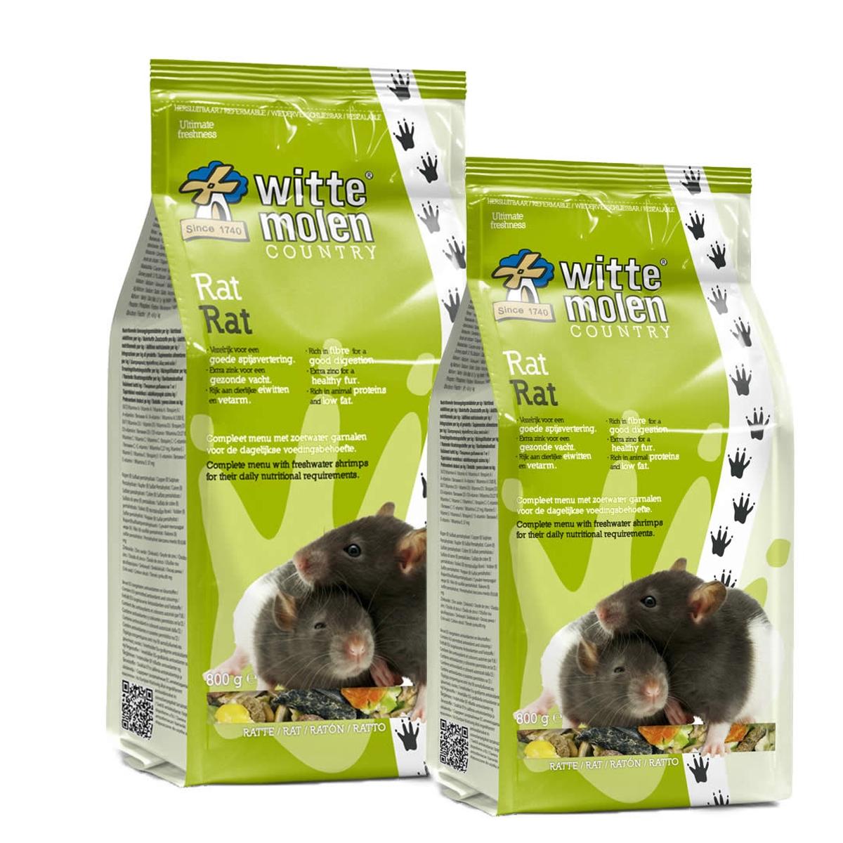 Witte molen - country rat meerkleurig 2 kg