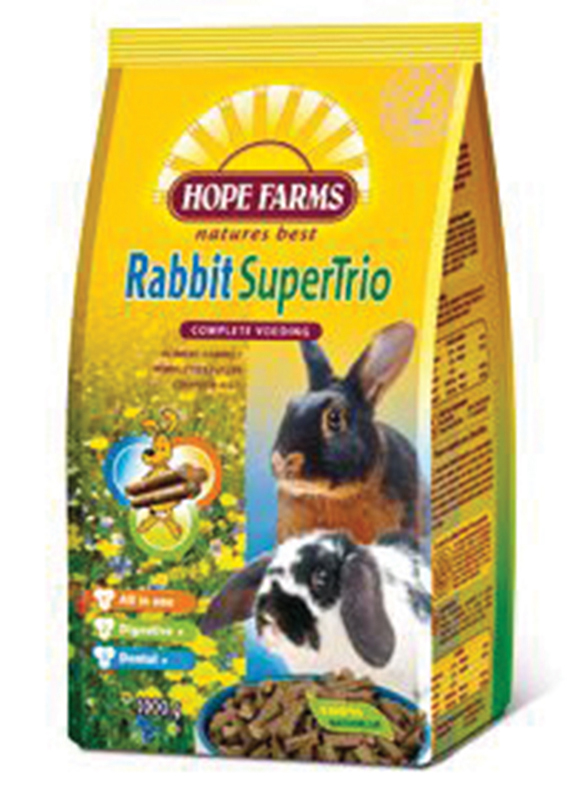 Hope farms - rabbit supertrio breeder meerkleurig 15 kg