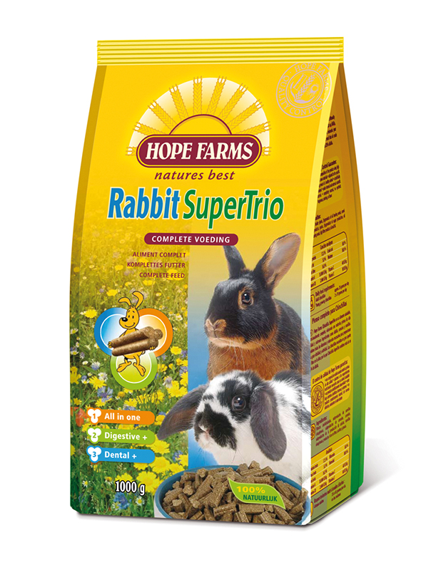 Hope farms - rabbit supertrio meerkleurig 15 kg