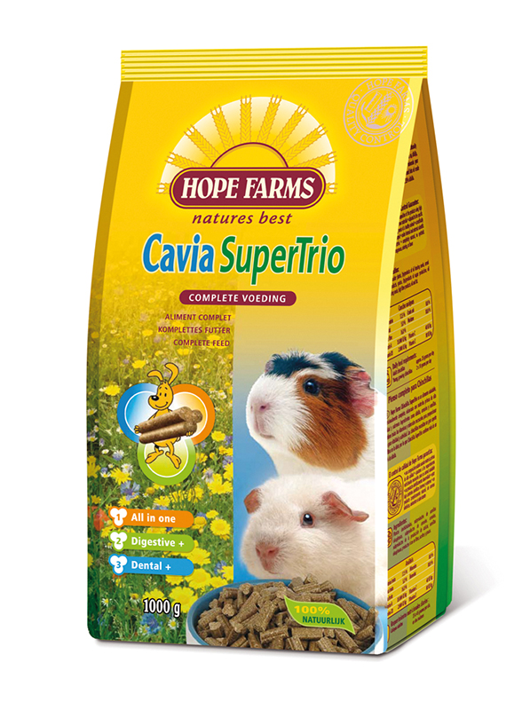 Hope farms - cavia supertrio meerkleurig 15 kg